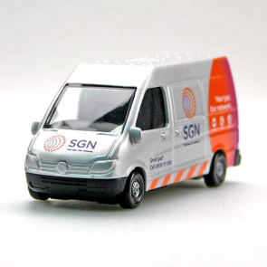 Silver toy van